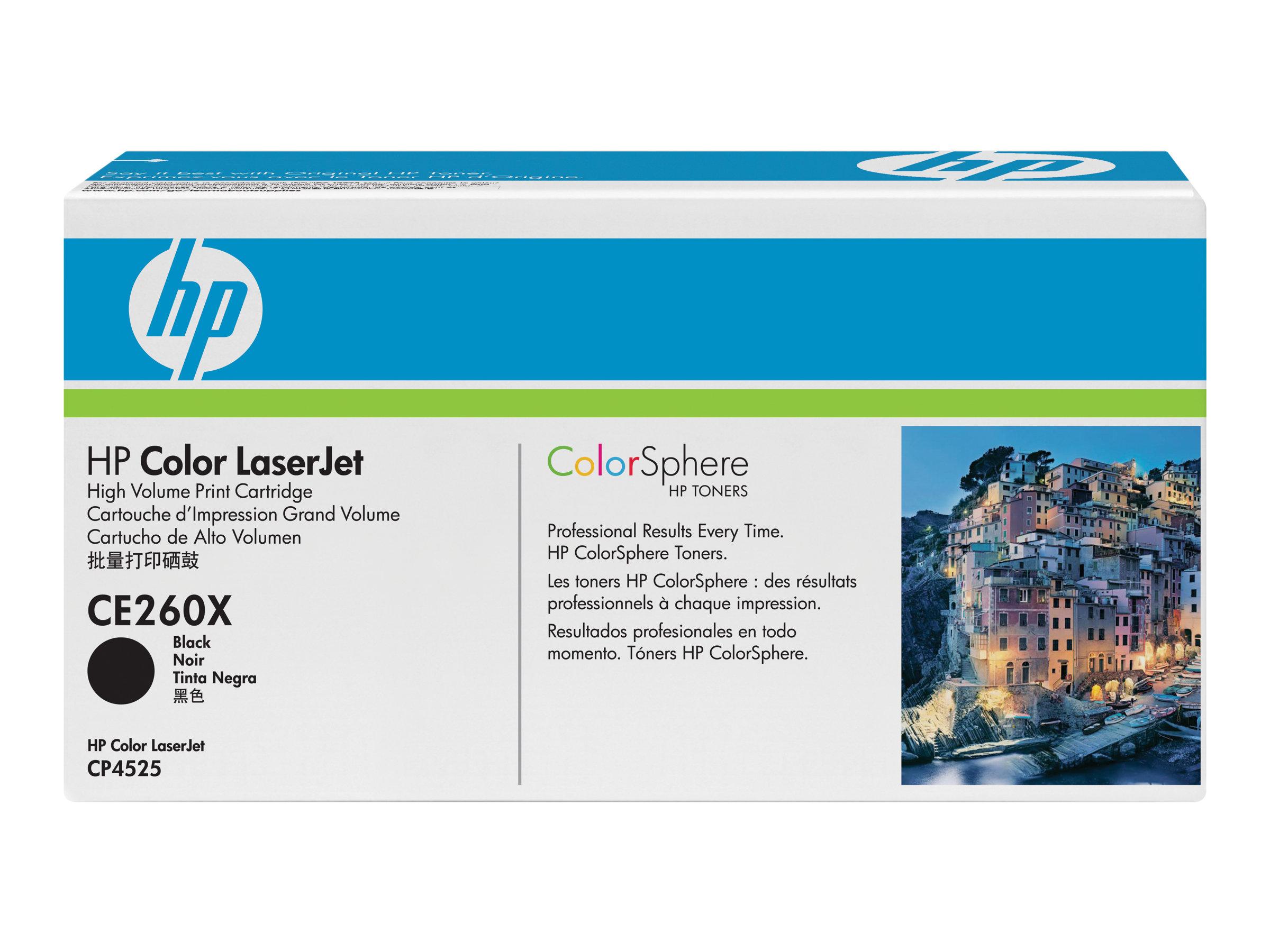 HP 649X - à rendement élevé - noir - originale - LaserJet - cartouche de toner (CE260X)