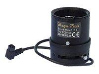 Axis CS mount Varifocal Megapixel Lens 2.4-6mm DC Iris for 211M