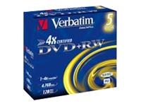 Verbatim DataLifePlus - DVD+RW x 5 - 4.7 Go - support de stockage