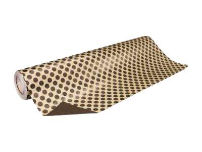 Apli Agipa - Papier cadeau - 70 cm x 50 m - 50 g/m² - écru, pois chocolat