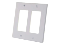 C2G Two Decora Compatible Cutout Double Gang Wall Plate