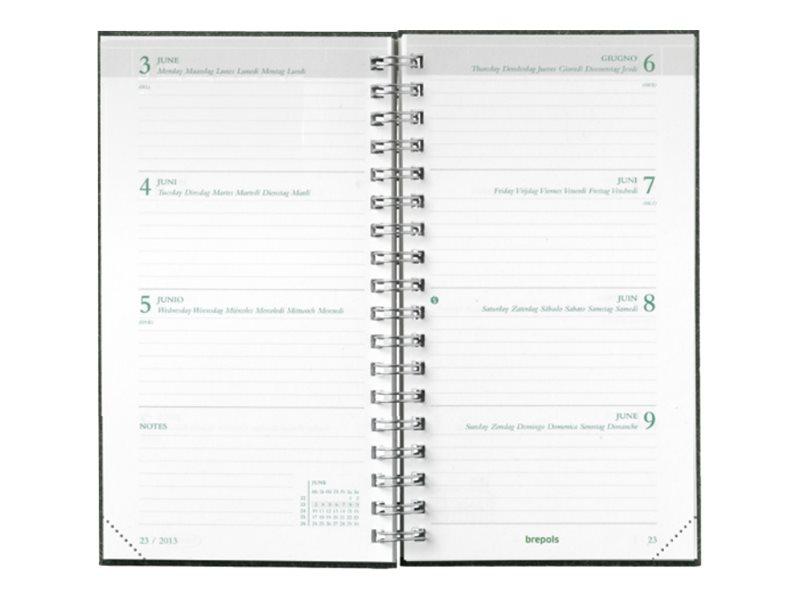 Brepols Kazar Ecorama - Agenda - semainier - 89 x 160 mm - disponible dans différentes couleurs