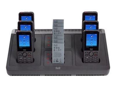 Cisco Multi-Charger - Nabíjecí stojan pro telefon / nabíjčeka na baterii + napájecí adaptér - pro IP Phone 8821; Unified Wireless IP Phone 8821, 8821-EX