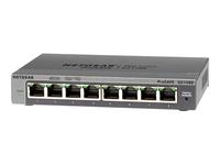 NETGEAR ProSafe Plus GS108Ev3 - commutateur - 8 ports - Ordinateur de bureau, fixation murale