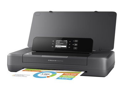 HP Officejet 200 Mobile Printer - Printer - color - ink-jet - A4/Legal - 1200 x 1200 dpi - up to 20 ppm (mono) / up to 19 ppm (color) - capacity: 50 sheets - USB 2.0, Wi-Fi