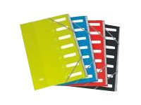 ELBA - Parapheur - 24 pochettes - 24 positions - A- Z - à onglets - disponible dans différentes couleurs
