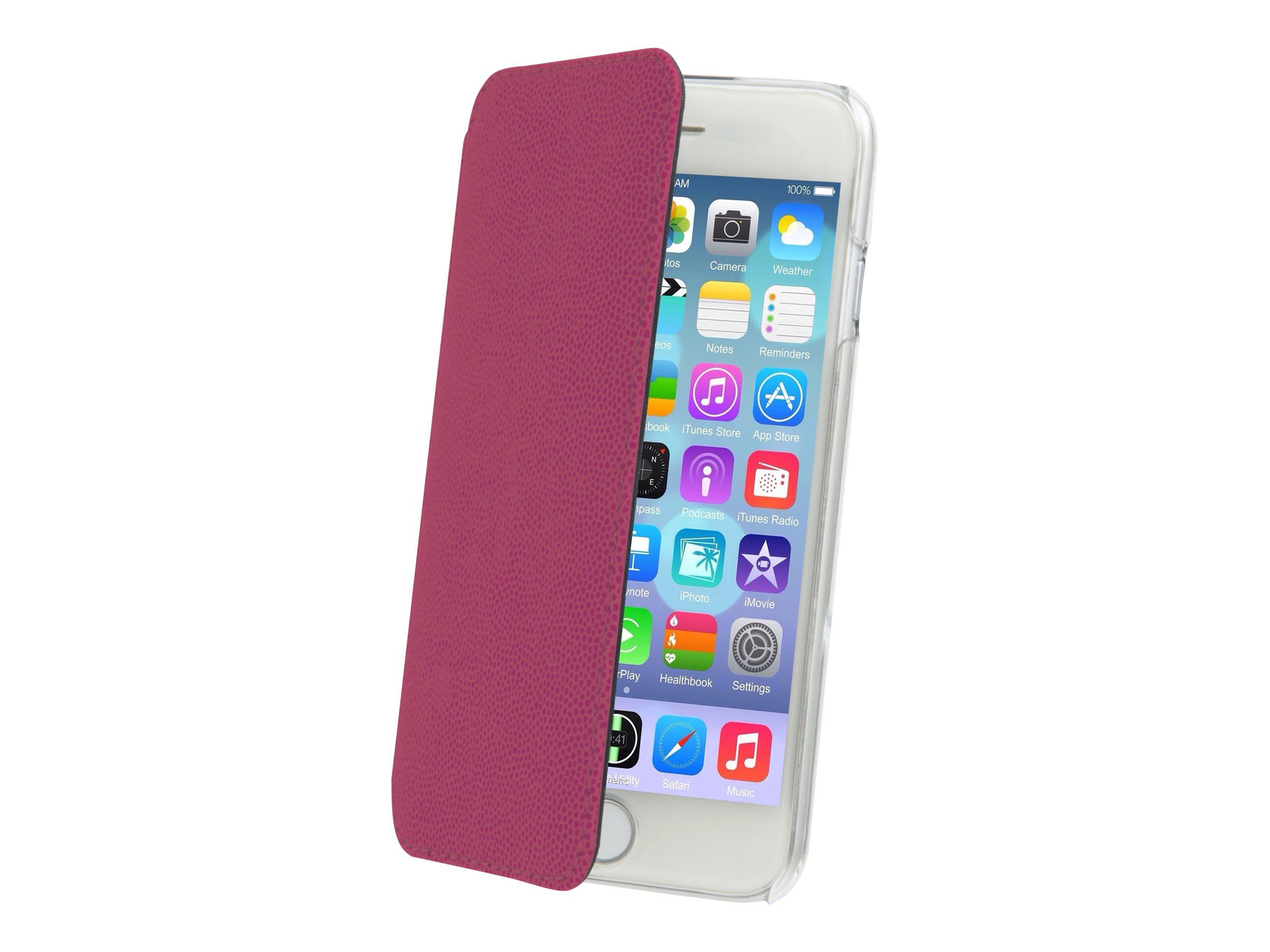 Muvit Made in Paris Crystal Folio - Protection à rabat pour iPhone 6 - rose