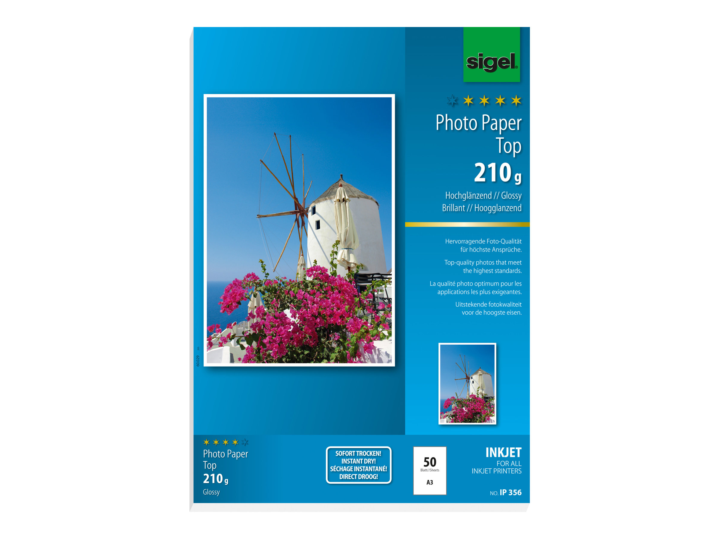 Sigel InkJet Top Photo Paper IP356 - papier photo - 50 feuille(s)