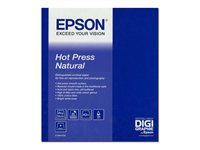 Image of Epson Fine Art Hot Press Natural - two-sided smooth matte cotton rag paper - 25 sheet(s)