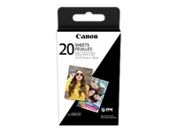 Canon ZINK ZP-2030-20 - Glossy - self-adhesive - 2 in x 3 in 20 sheet(s) photo paper - for Canon IVY;