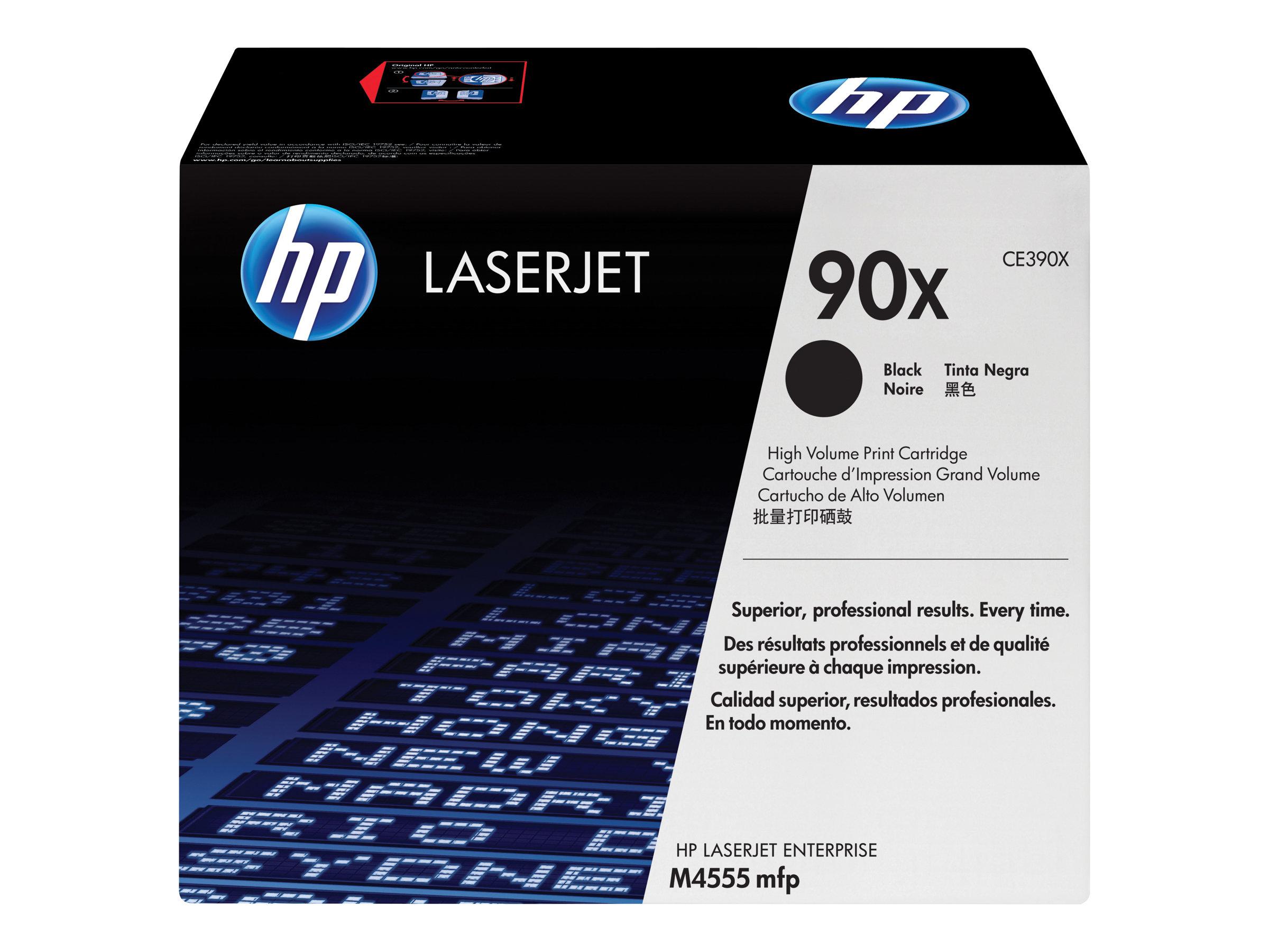 HP 90X - à rendement élevé - noir - originale - LaserJet - cartouche de toner (CE390X)