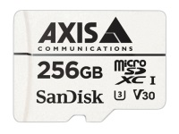 AXIS Surveillance - Flash memory card (microSDXC to SD adapter included) - 256 GB - Video Class V30 / UHS Class 3 / Class10 - microSDXC - white - for AXIS A8207, M1134, M1135, M1137, P1377, P1378, P1455, P3715, P3925, P3935, Q1615, V5925