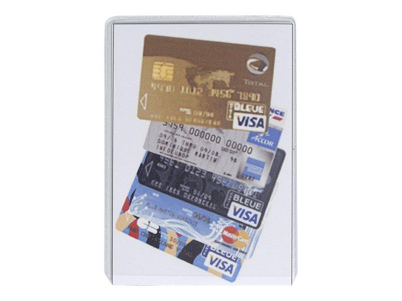 Exacompta - Pochette de protection de carte bancaire - 65 x 95 mm - verre transparent