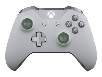 Microsoft Xbox Wireless Controller - Gamepad - wireless - Bluetooth - gray, green - for PC, Microsoft Xbox One, Microsoft Xbox One S, Microsoft Xbox One X