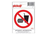 Pickup - pictogramme - 100 x 100 mm - autocollant - différents modèles