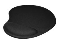 Klip Xtreme KMP-100 Gel Mouse Pad - Mouse pad with wrist pillow - black