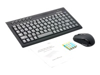 Gear Head Wireless Mini Keyboard and Optical Mouse KB3750W