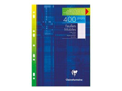Clairefontaine - Cahier - A4 - 400 pages - blanc - Petits carreaux - perforé