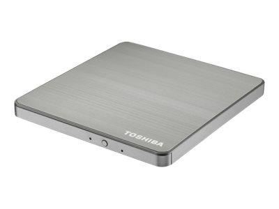 Toshiba USB 3.0 Portable SuperMulti Drive - Disková jednotka - DVDąRW (ąR DL) / DVD-RAM - SuperSpeed USB 3.0 - externí - stříbrná - pro Portégé Z20T-C-14; Satellite Pro A40-D-11, A50-D-14, R50-D-104;