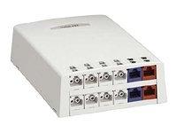 Zásuvka na omítku 12-portová FO+multimedia,bez modulů,arktická b