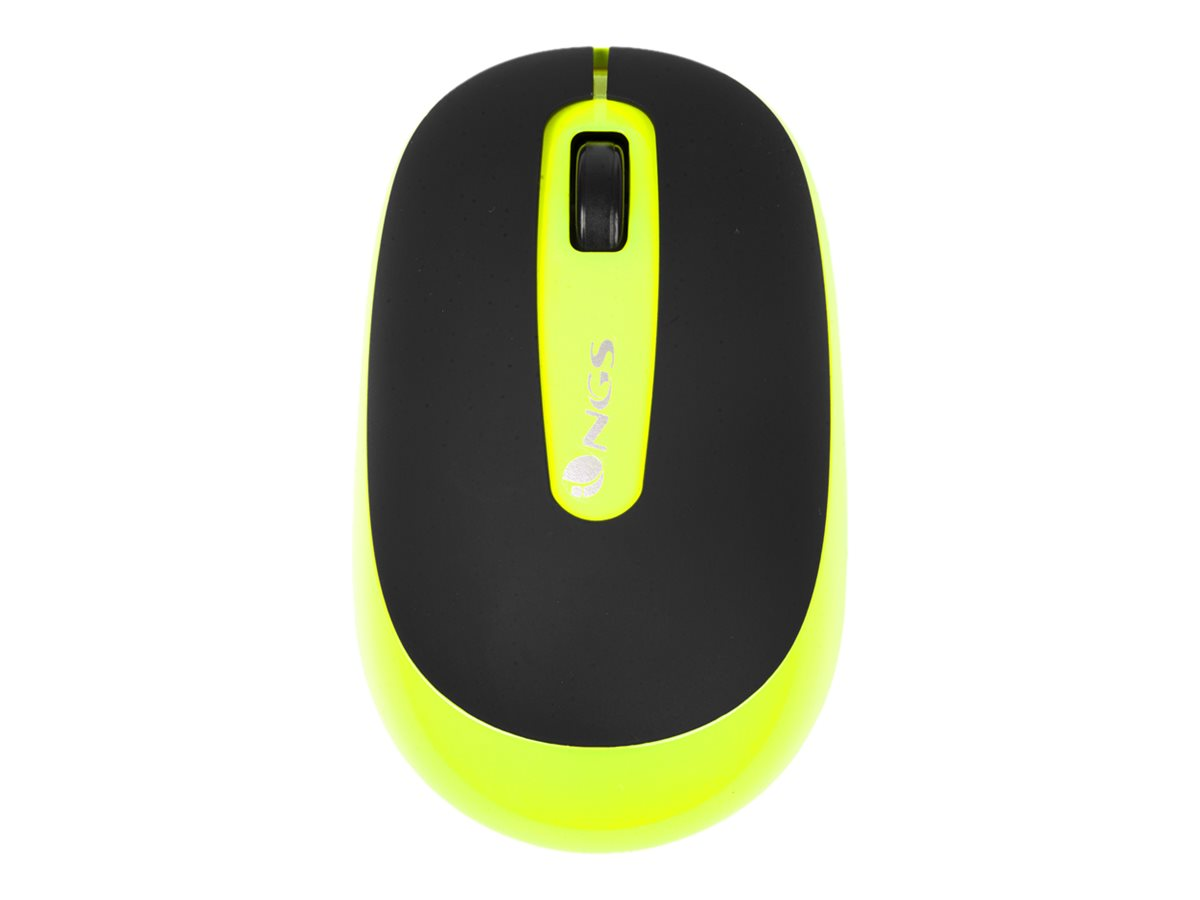 NGS Dust - souris - 2.4 GHz - jaune