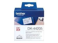 Brother DK44205 Aftageligt klæbemiddel hvid