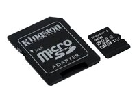 Kingston - Flash memory card ( microSDHC to SD adapter included ) - 8 GB