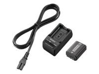 Sony ACC-TRW Batterioplader + AC-strømadapter + batteri Li-Ion
