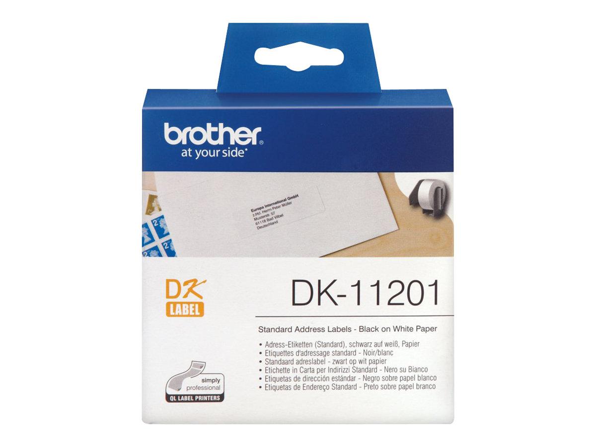 Brother DK-11201 - étiquettes adresses - 400 étiquette(s)