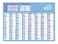 CBG Classique - Calendrier - septembre 2016 - décembre 2017 - 8 mois par page - 405 x 550 mm