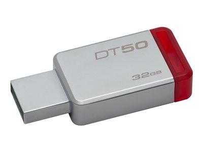 Kingston DataTraveler 50 - Jednotka USB flash - 32 GB - USB 3.1 - červená