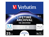 Verbatim M-Disc - BD-R x 5 - 25 Go - support de stockage