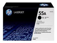 HP 55A - CE255A Toner cartridge - 1 x black - 6000 pages