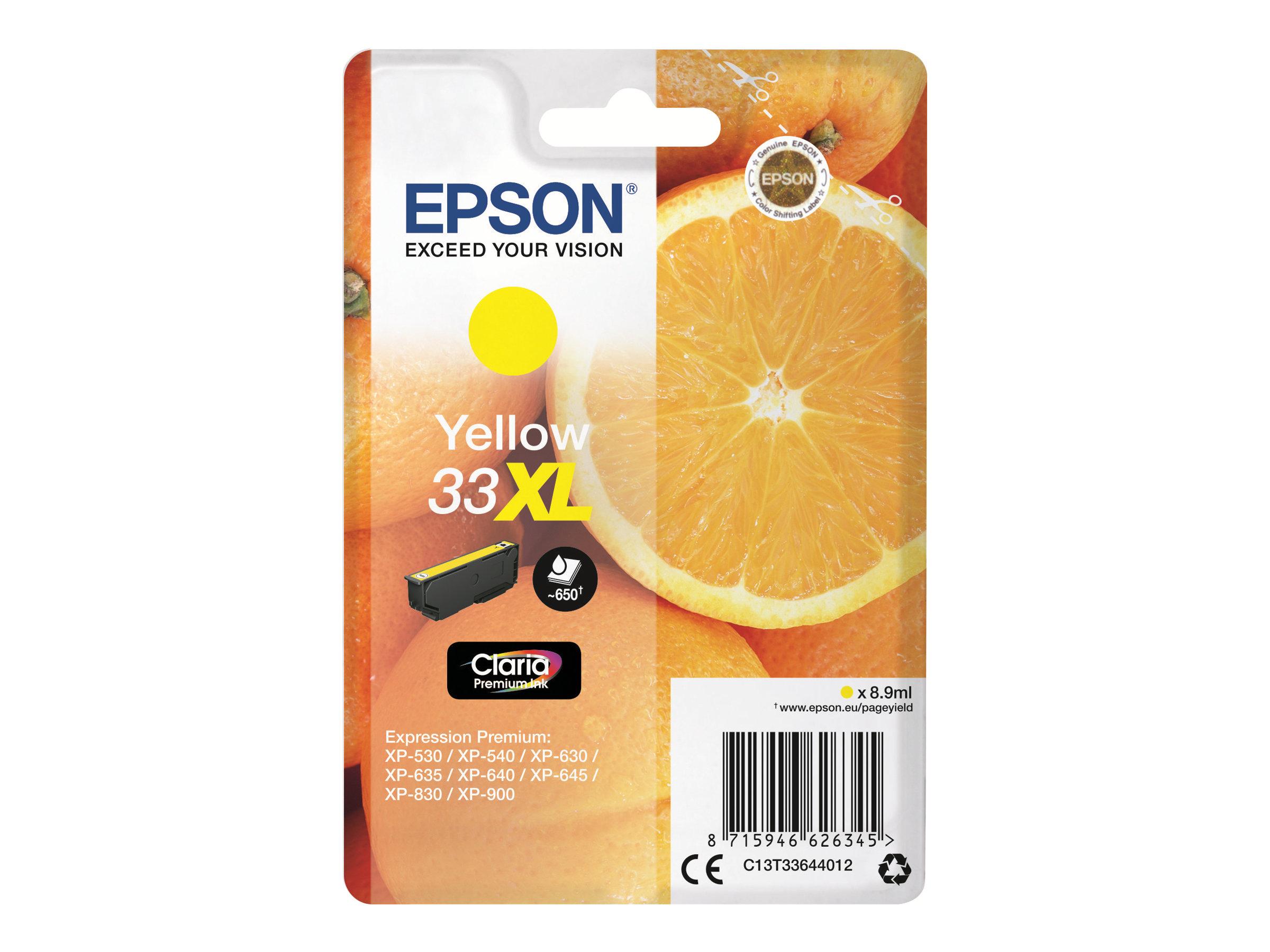 Epson T33XL - oranges - haute capacité - jaune - originale - cartouche d'encre