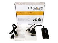 StarTech.com Adaptador VGA a HDMI con audio y alimentación USB – Conversor VGA a HDMI portátil –  1080 p - Vídeo conversor - VGA