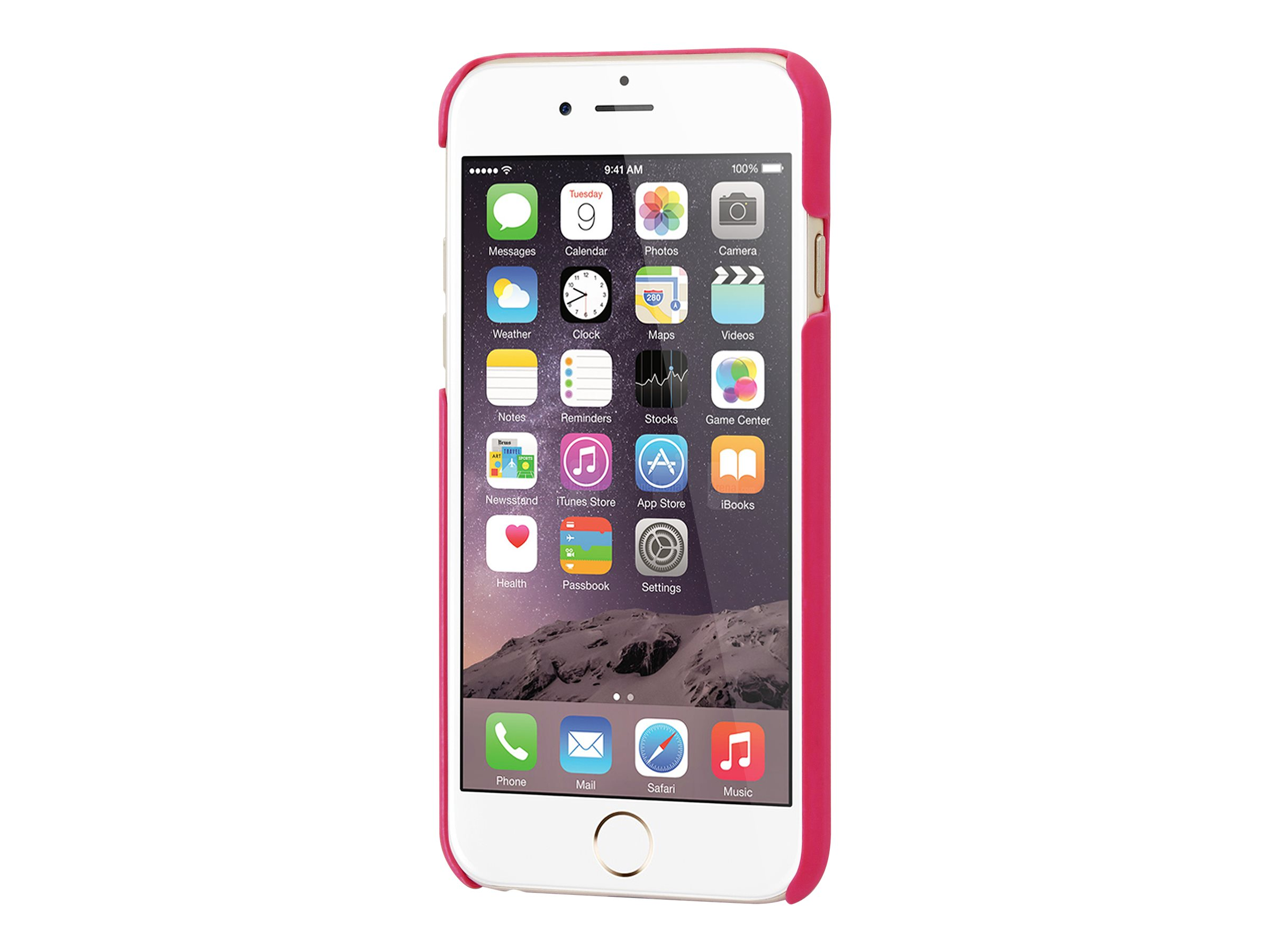 Muvit finition rubber - Coque de protection pour iPhone 6, 6s - rose