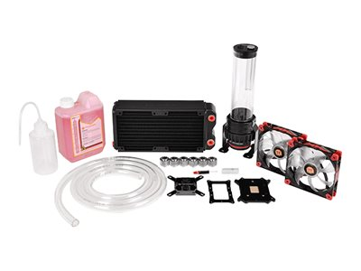Thermaltake Pacific RL240 - Liquid cooling system kit - nickel plated copper base - 120 mm