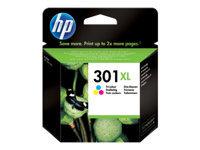 HP 301XL Højtydende farve (cyan, magenta, gul) original blækpatron