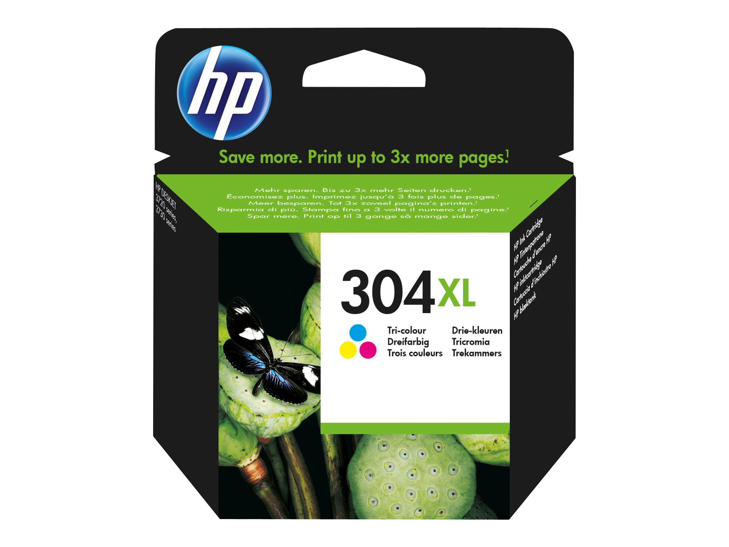 HP 304XL - à rendement élevé - tricolore à base de colorant - originale - cartouche d'encre