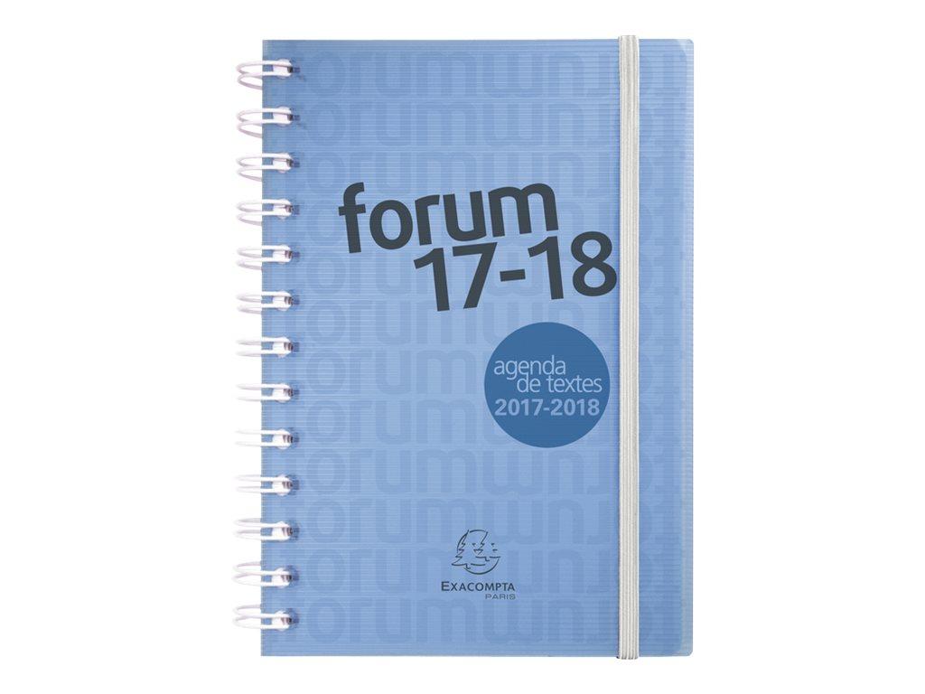 Exacompta Forum Linicolor - Agenda - 2017-2018 - 1 jour par page - 12 x 70 cm - coloris selon disponibilité