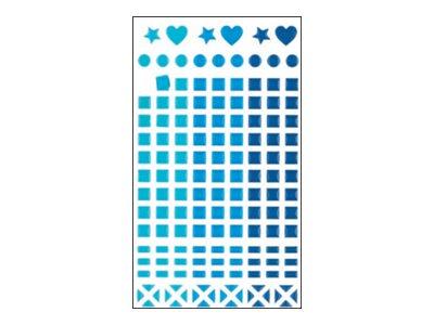 Oberthur Géométriques - 147 Gommettes - mosaïque - bleu cristal