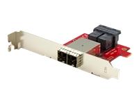 StarTech.com Adaptateur Mini SAS 2x SFF-8643 interne vers 2x SFF-8644 externe avec supports - 12 Gb/s - panneau interne vers externe SAS