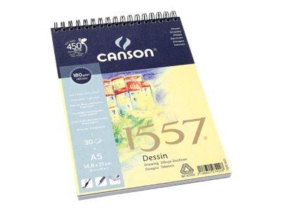 CANSON 1557 - Bloc à dessins - A3 - 30 feuilles - 180 g/m² - blanc