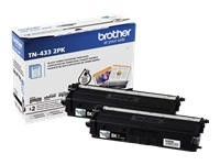 Brother TN-433 2PK - 2-pack - High Yield - black - original - toner cartridge - for Brother HL-L8260CDW, HL-L8360CDW, HL-L8360CDWMT, HL-L8360CDWT, MFC-L8610CDW, MFC-L8900CDW