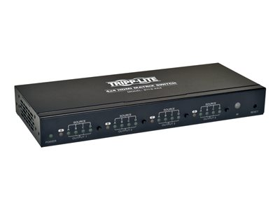 Tripp Lite 4x4 HDMI Matrix Video Switch Splitter with Audio and RS232 TAA - Video switch - desktop
