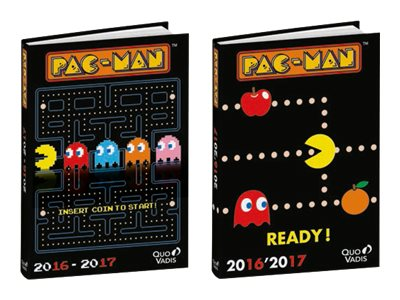 Quo Vadis Pac-Man - Agenda - 2016-2017 - 1 jour par page - 120 x 170 mm - disponible dans différentes couleurs