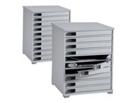 "LapCabby Lyte 10 Multi - Cabinet unit for 10 notebooks/tablets - lockable - MDF, steel - screen size: up to 15"" - floor-standing"