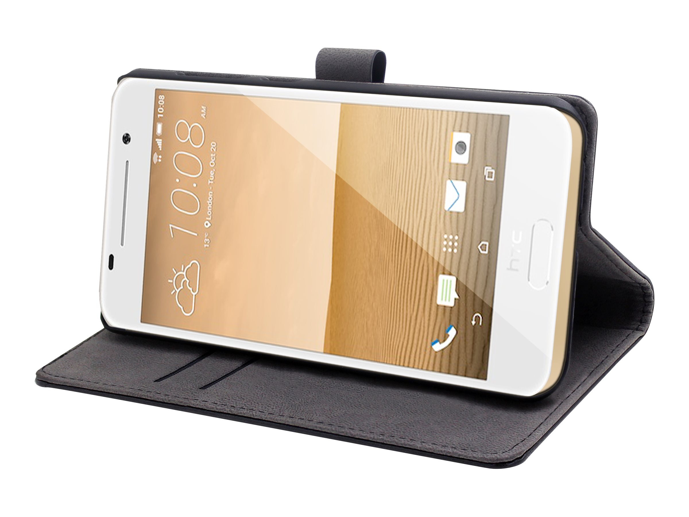 Muvit Customline Slim Folio - Protection à rabat pour HTC One (A9) - noir