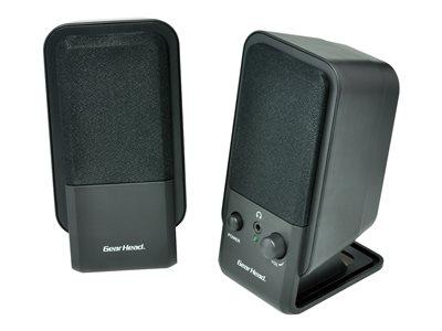 Gear Head Powered 2.0 Desktop Speakers - for PC - Speakers - for PC