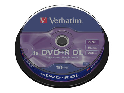 Verbatim - DVD+R DL x 10 - 8.5 GB